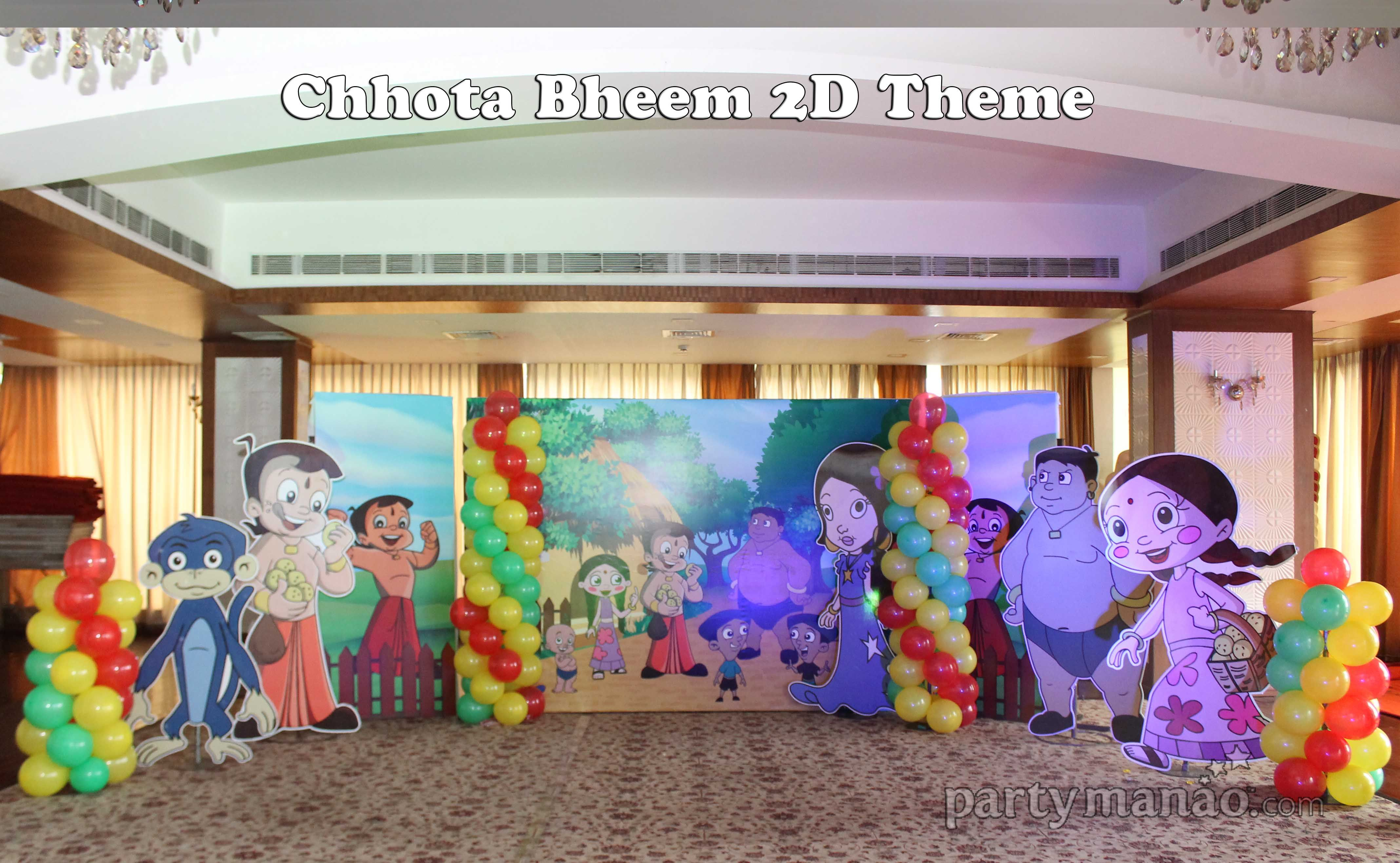 Partymanao Com Does An Excellent Work To Make Chhota Bheem Themed