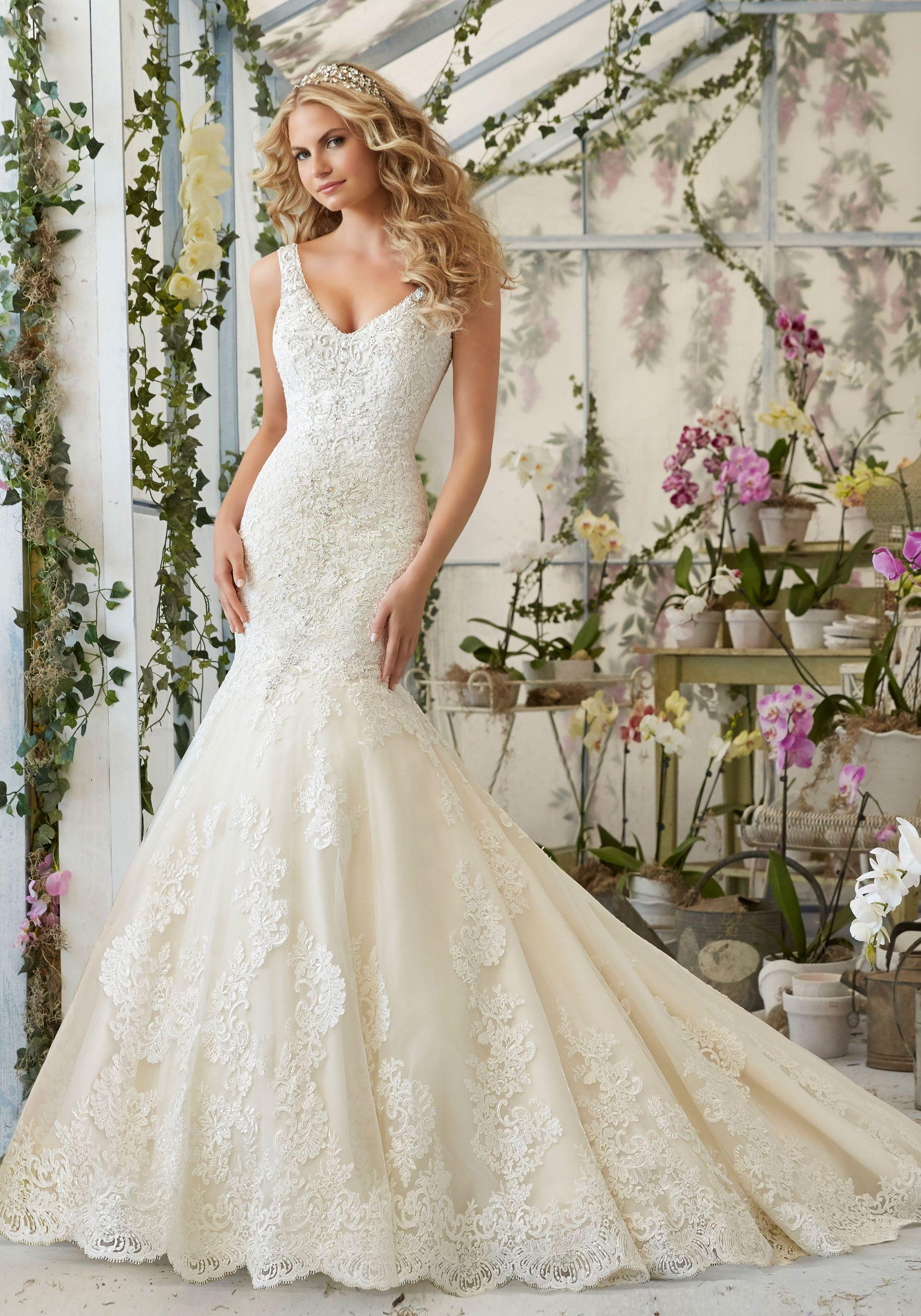 Vestido de novia de la casa de novias Mori Lee modelo 2878 ...