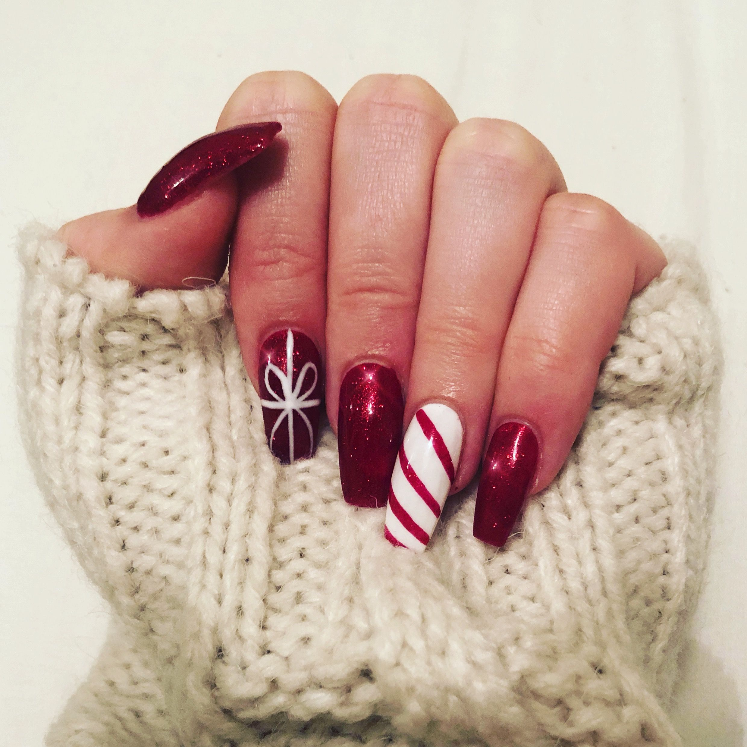 27+ Acrylic candy cane nails trends