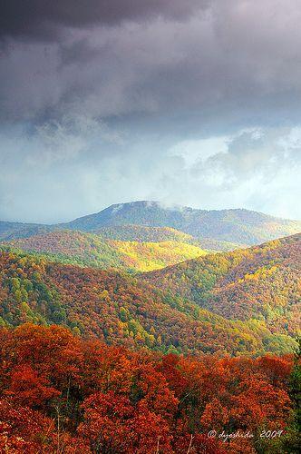 Skyline Drive in Shenandoah National Park, Virginia