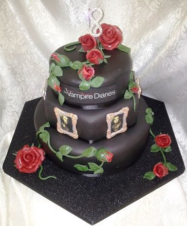 Three Tier 18th Birthday Cake Vampire Diaries Cakes