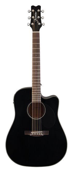 Jasmine Dreadnought Acoustic Electric Guitar Cutaway Black With Hardshell Case Guitarras Guitarra Acustica