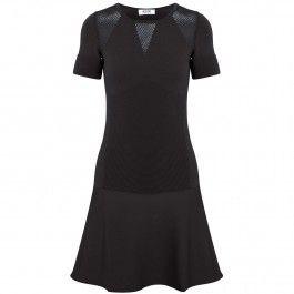 Panelled fine knit dress