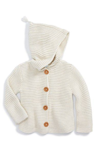 Stem Baby Organic Cotton Hooded Cardigan (Baby) available at ...