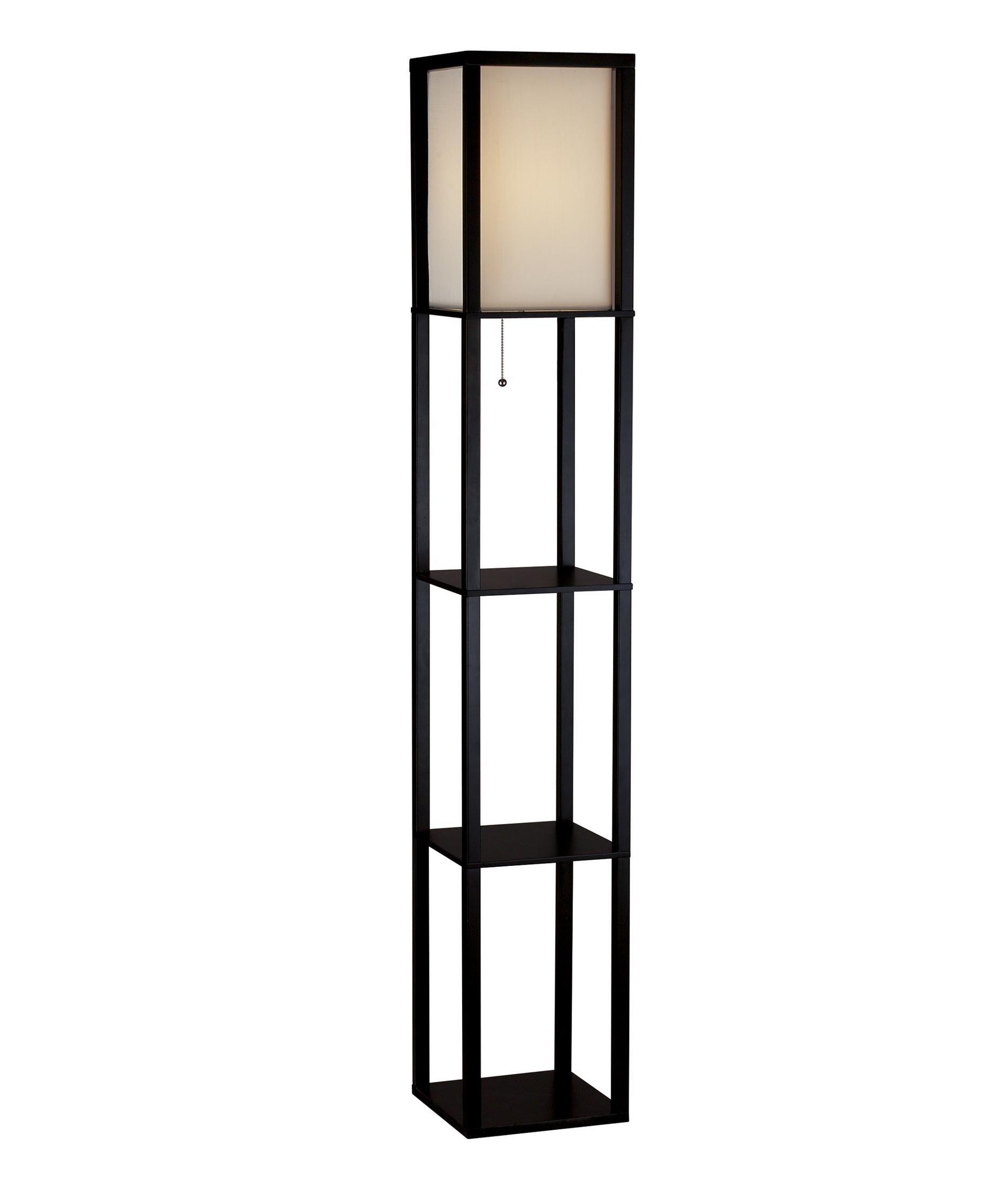 Wright 63 Inch Floor Lamp Capitol Lighting Square Floor Lamp Shelf Lamp Tall Floor Lamps