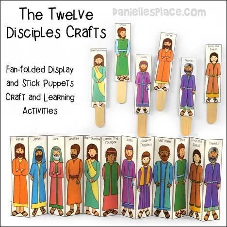 The Twelve Disciples Bible Stick Puppets And Fan Folded