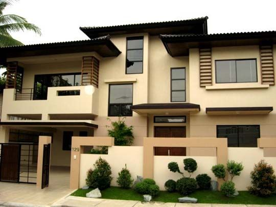 Exterior House Design Ideas nice grey and brown exterior design for houses uk that can be decor with glasses door Modern Asian Exterior House Design Ideas 2nd Favorite Color Palette