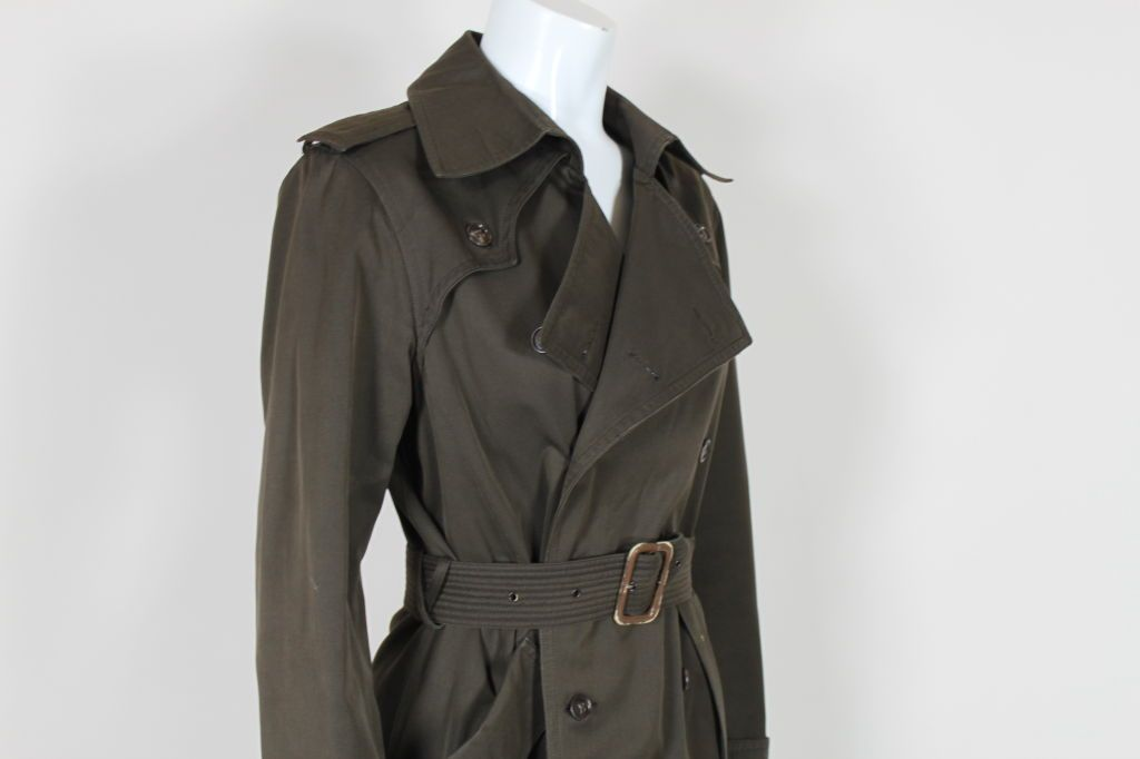 Yves Saint Laurent Rive Gauche Trench Coat
