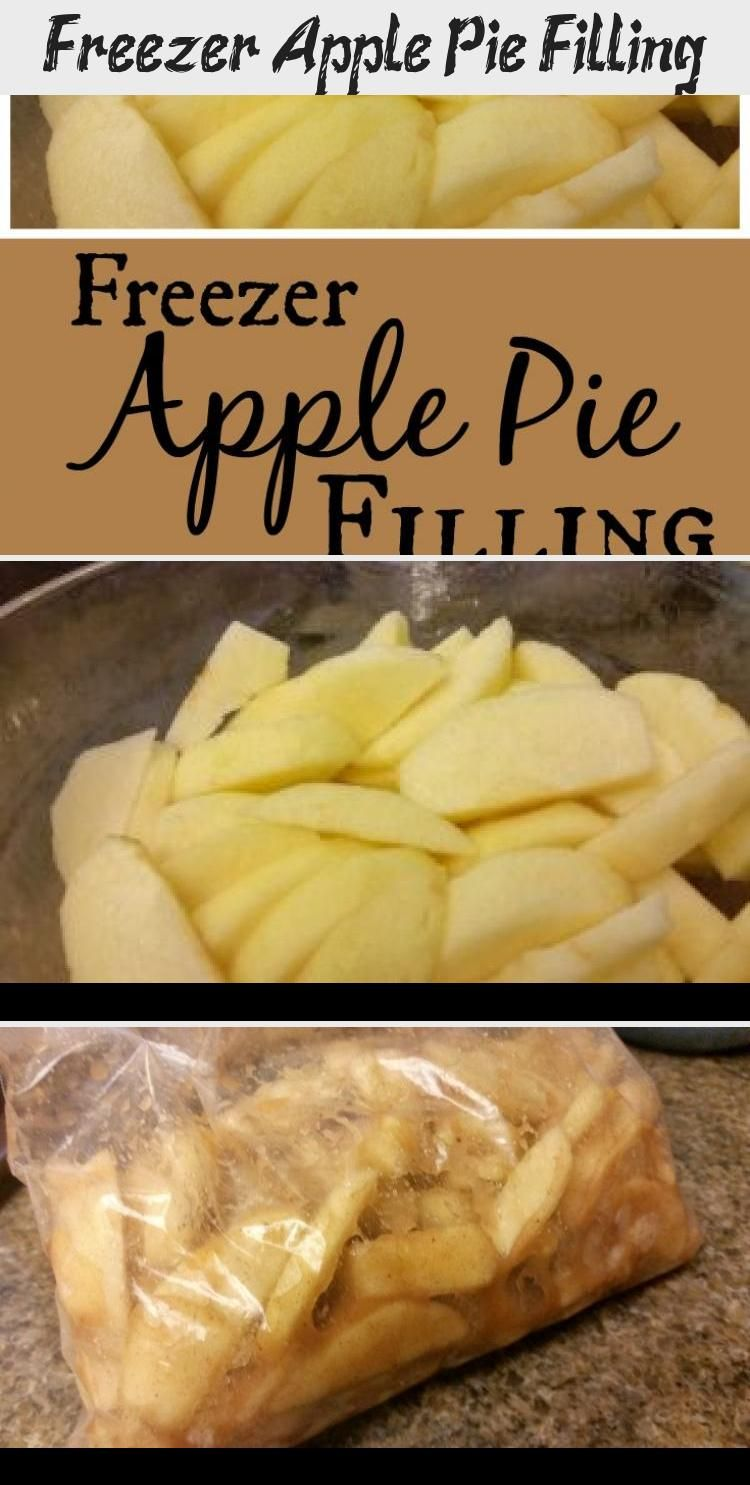 Photo of Freezer Apple Pie Filling. An easy way to put up apples to enjoy a quick dessert…
