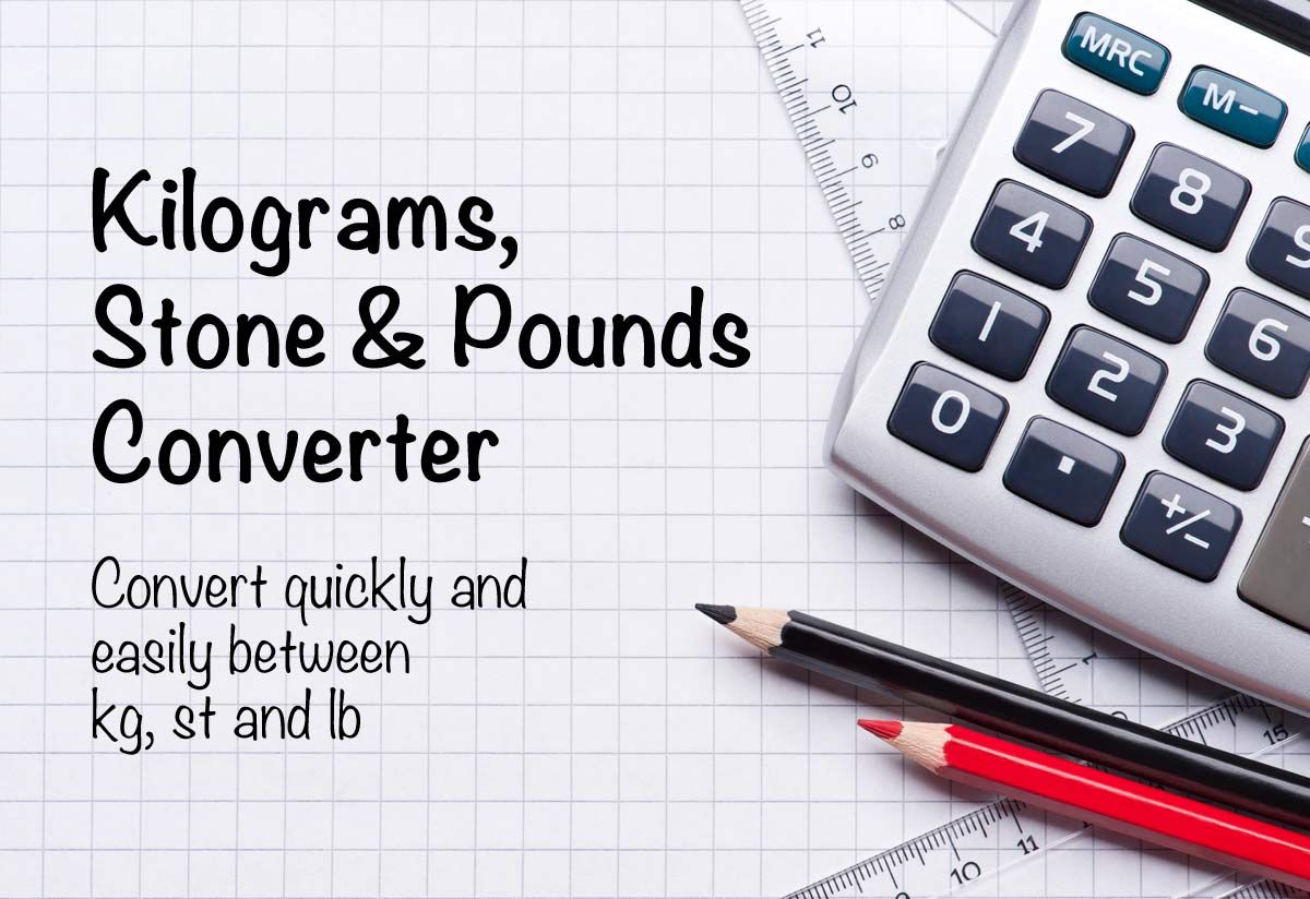 Convert Quickly And Easily Between Kilograms Stones And