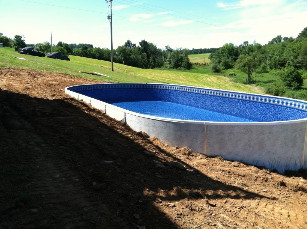 New radiant pool on hill slope radiant pools backyard