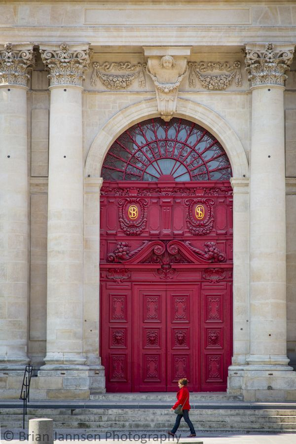 Front doors to Saint Paul - Saint Louis Church, Paris France. © Brian Jannsen Photography