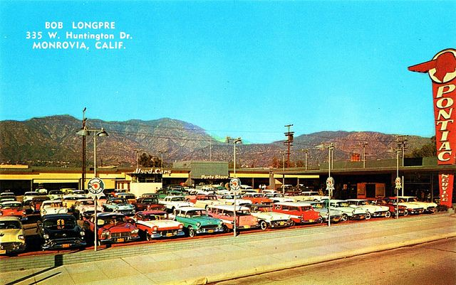 Bob Longpre Pontiac Monrovia Ca 1950s Vintage Car Dealers Pinterest Cars Car Shop And Chevrolet