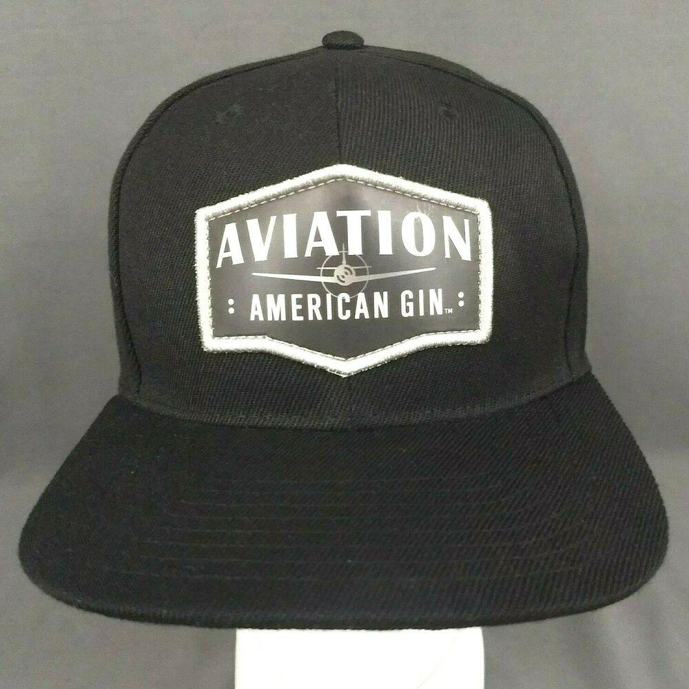 2f73669b7 Aviation American Gin Snapback Hat Black Patch Cap Portland Oregon ...
