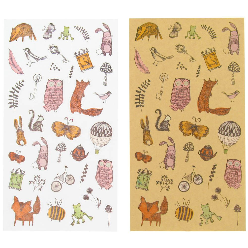 Scrapbook paperchase - Woodland Stickers From Paperchase For Letter Writing Postcards Fun Etc