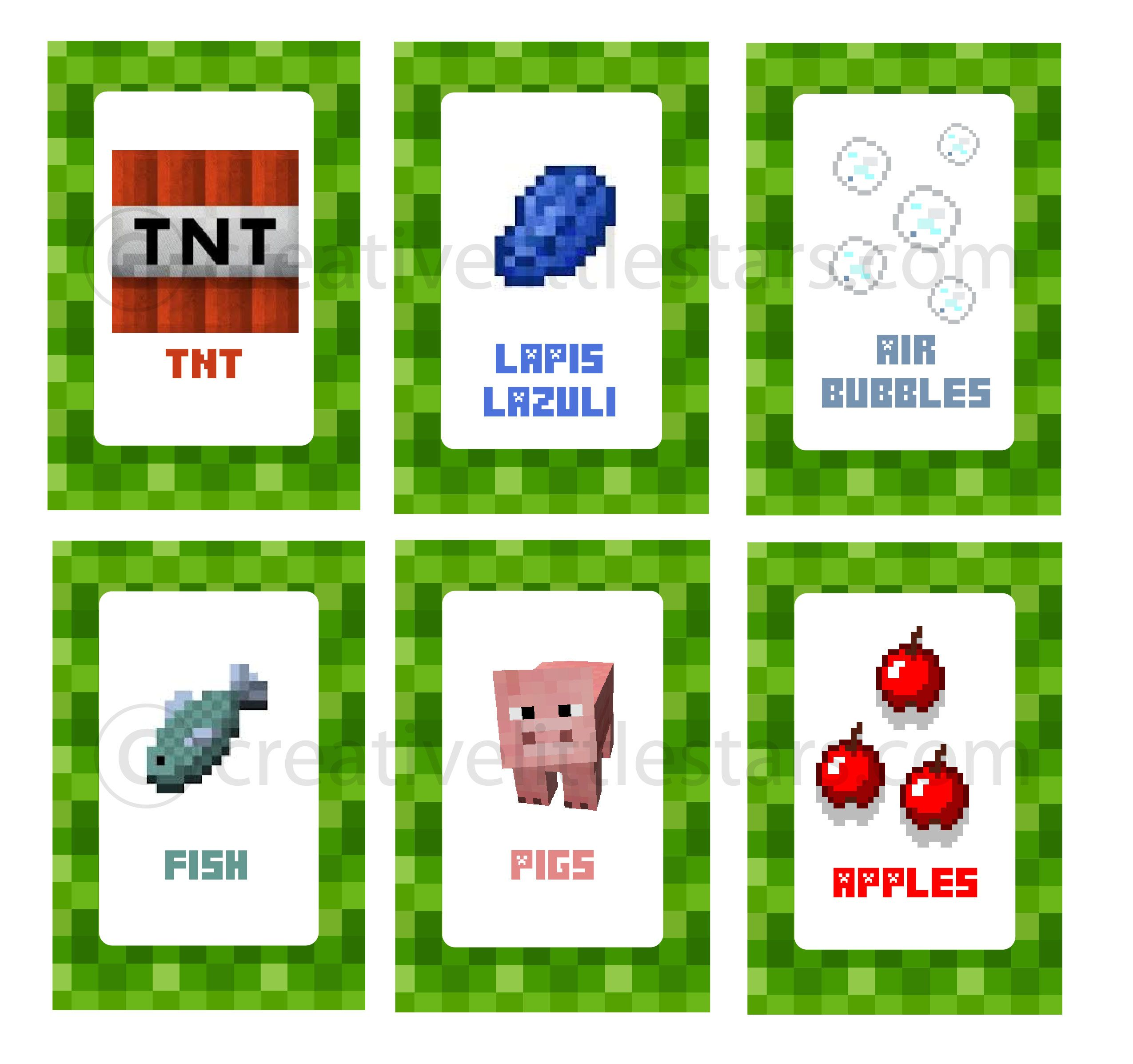 Intable Minecraft Food Labels