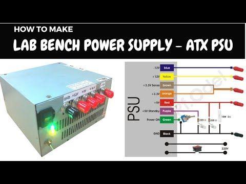 Xlaciencia Convertir Fuente Atx En Una Fuente De Alimentacion De Laboratorio Part 1 2 Youtube Computer Power Supplies Computer Supplies Atx