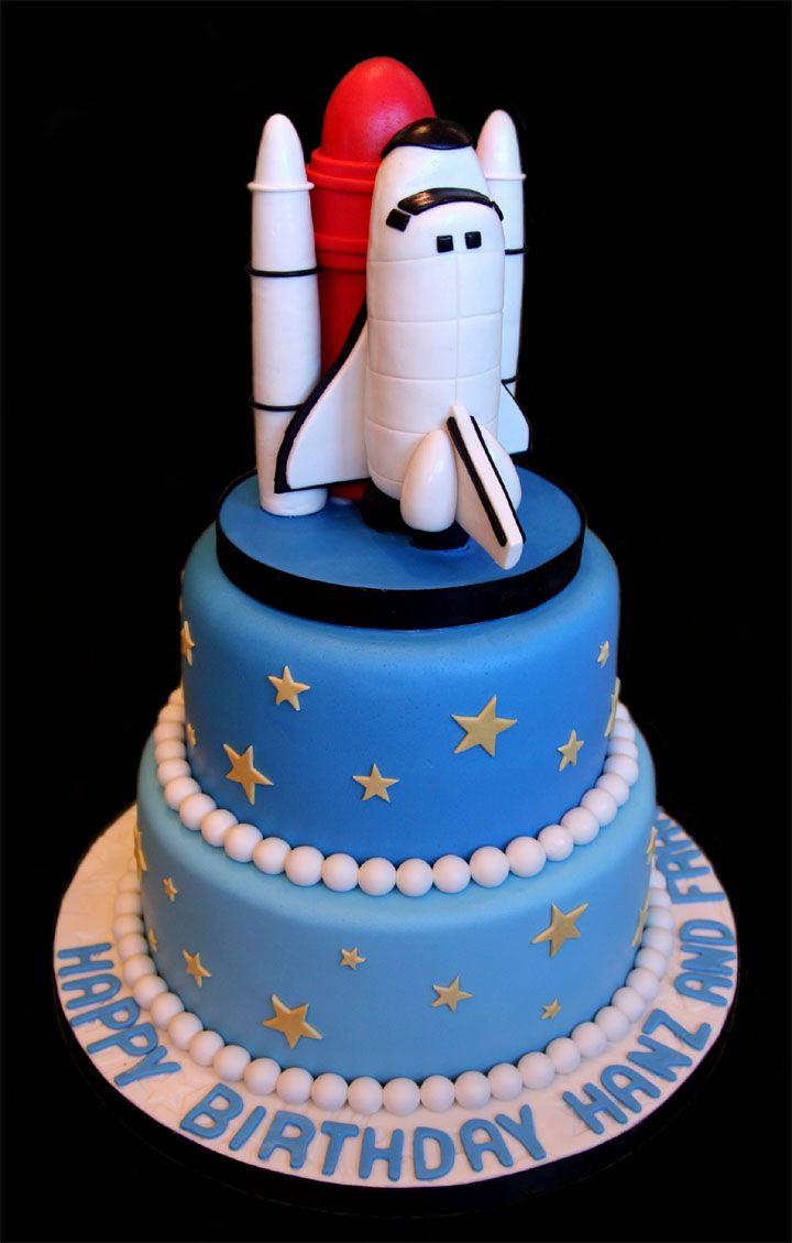 Space Themed Cakes Shuttle Cake View Cakepins Com