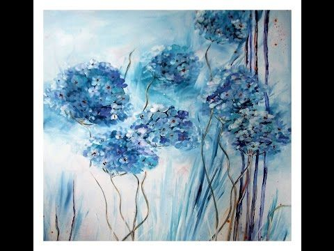 Einfach Malen Pusteblumen Acrylmalerei Easy Painting Flowers Youtube Flower Painting Painting Tutorial Abstract Art Painting