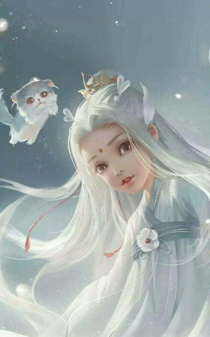 Beast Princess Seni Jepang Peri Fantasi Karya Seni Fantasi