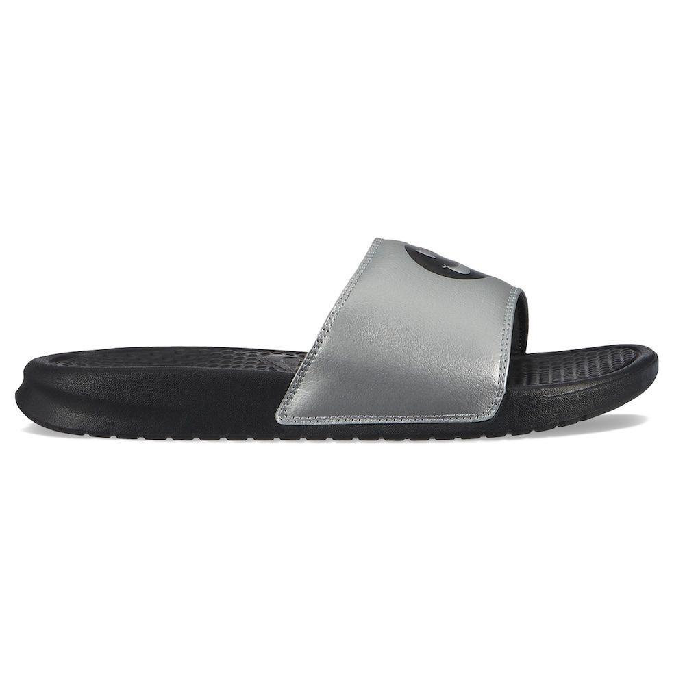 quality design f0c3c 8da21 Nike Benassi JDI Men s Smiley Slide Sandals, Size  10, Grey