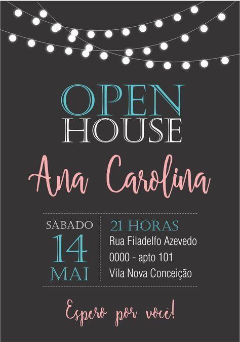 Convite Digital Open House 01 Lousa Casa Aberta Convites