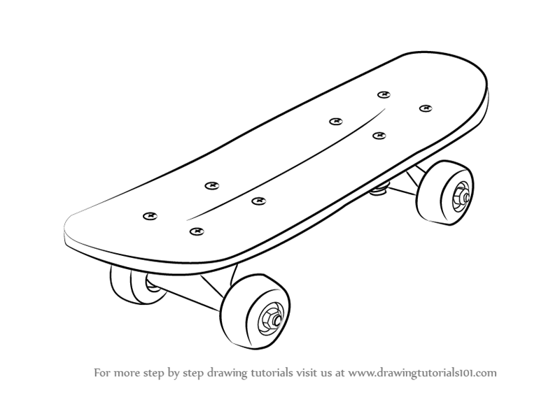 How To Draw Skateboard Step 0 Png 800 565 Easy Drawings Sketches Skateboard Drawings
