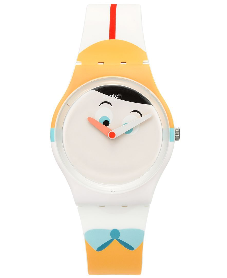 Swatch Unisex Swiss Es War Einmal Multi-Color Silicone Strap Watch 34mm GW176