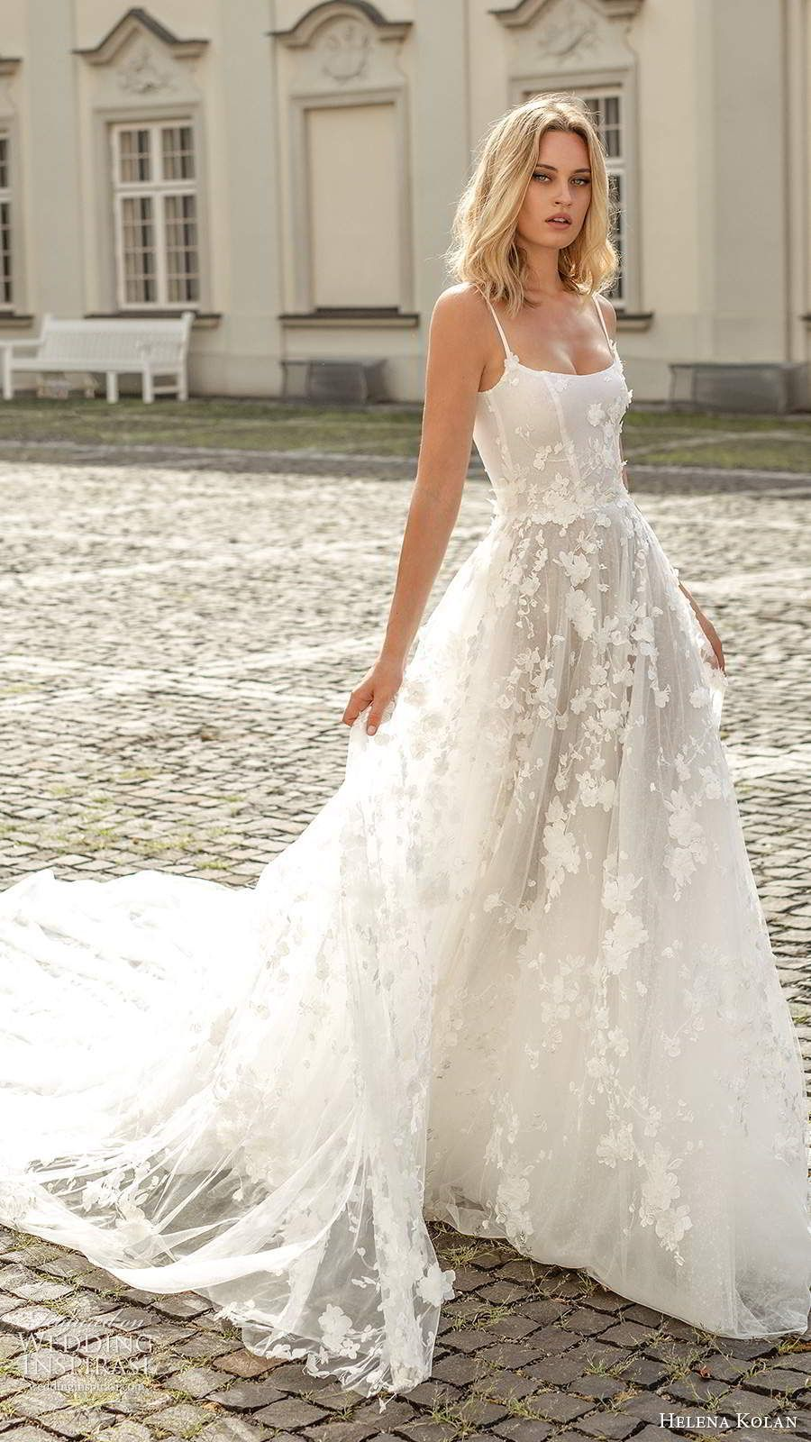 helena kolan 2020 bridal sleeveless thin straps scoop neckline fully embellished a line ball gown wedding dress scoop back cathedral train (1) mv -- Helena Kolan 2020 Wedding Dresses | Wedding Inspirasi #wedding #weddings #bridal #weddingdress #weddingdresses #bride #fashion ~