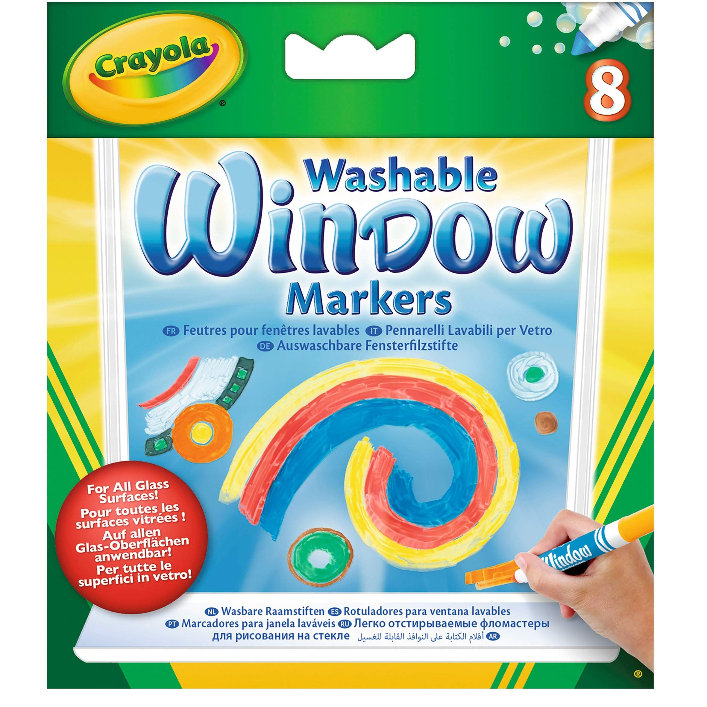 Crayola Washable Window Markers Art Tools 8 Different Colors Bright Bold Colors Works On All Glass Crayola Window Markers Window Markers Washable Markers