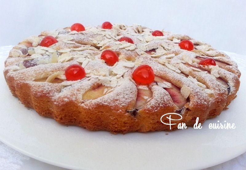 Gâteau moelleux aux nectarines