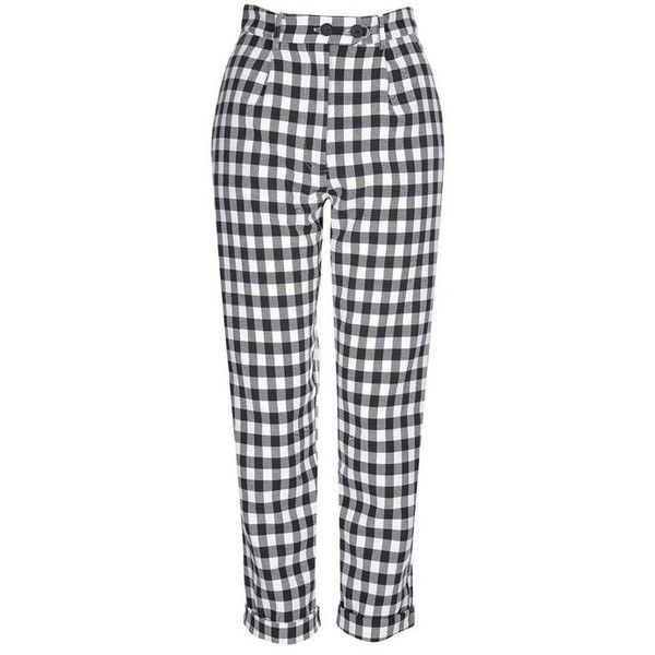 Topshop Gingham Mensy Trousers 50 Liked On Polyvore Featuring Pants Bottoms Topshop Trousers Plaid Gingham Trousers Gin Topshop Trousers Gingham Pants Tartan Pants
