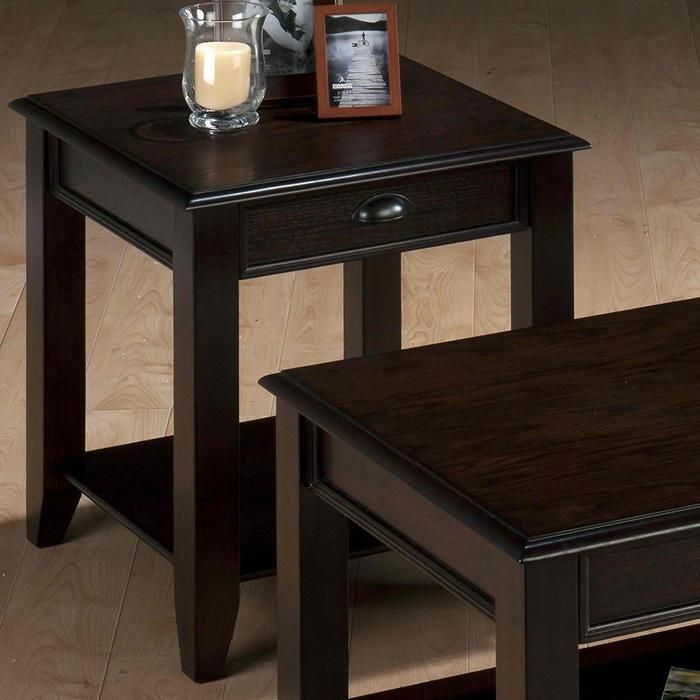 1 Drawer End Table In Bartley Oak Nebraska Furniture Mart