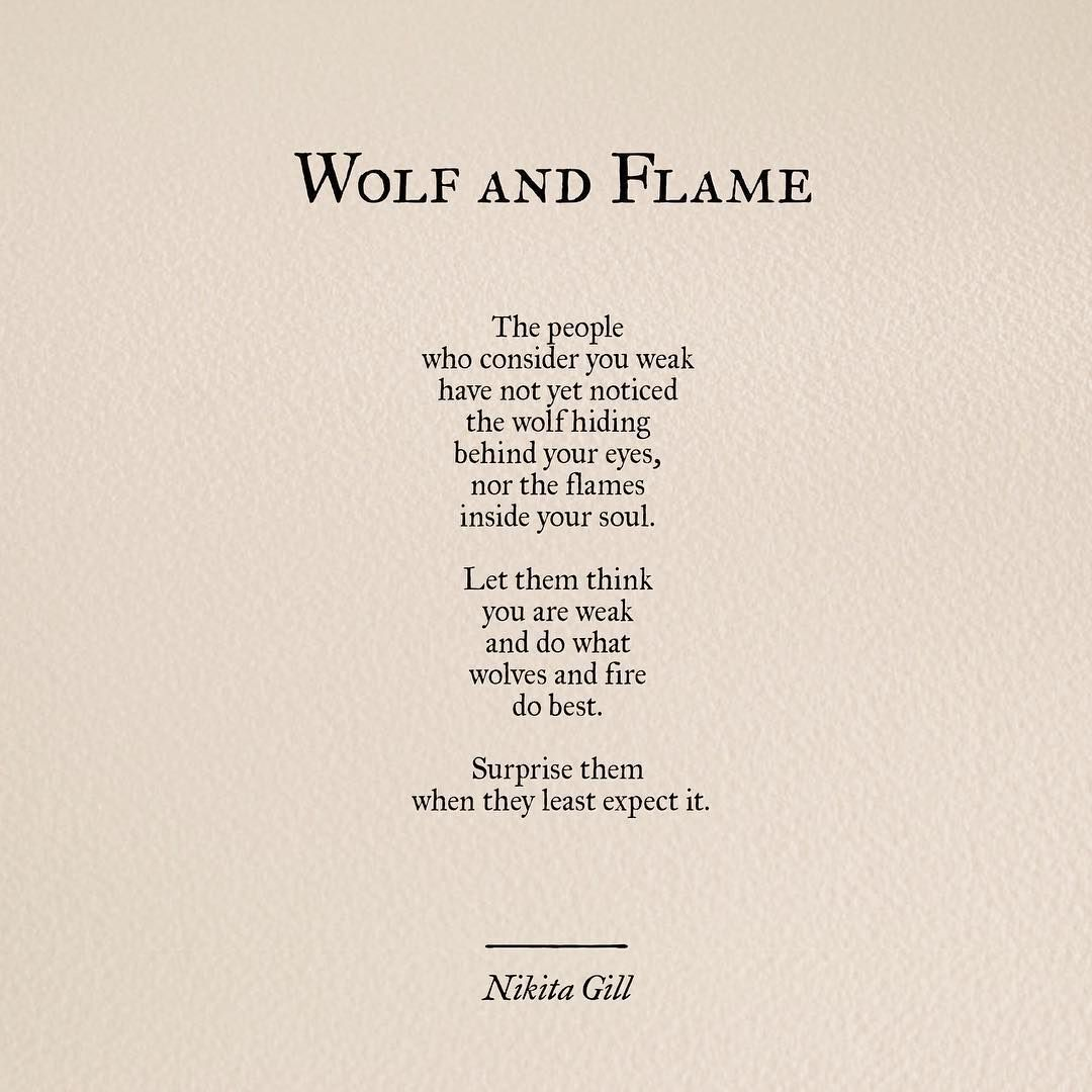 You Think I'm Weak, But I'm A Wolf Just Waiting