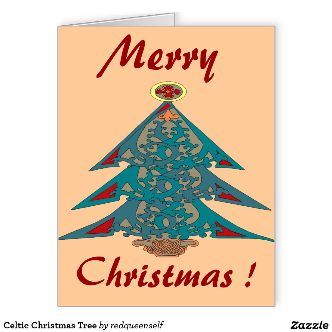 50% Off All CARDS, INVITES, & POSTCARDS - Get a Head Start on Your Christmas Cards!     Ends Saturday     Use Code: EARLYSPECIAL  Celtic Christmas Tree Large Greeting Card