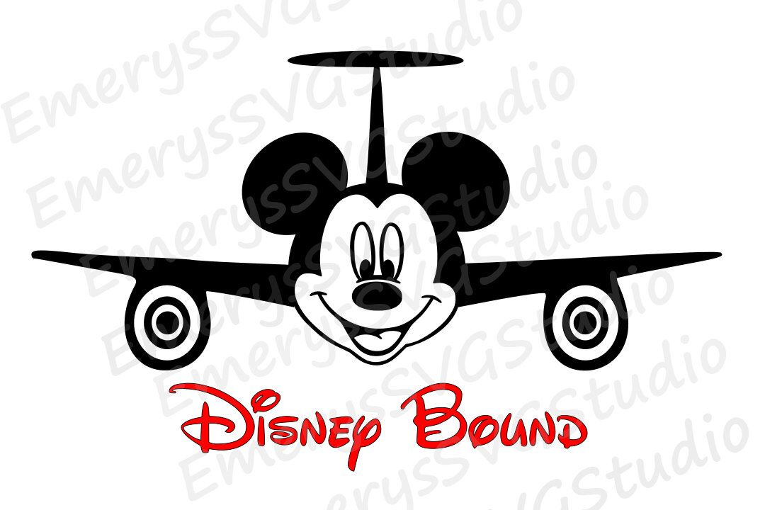SVG DXF File for Airplane Mickey Disney Bound by ...