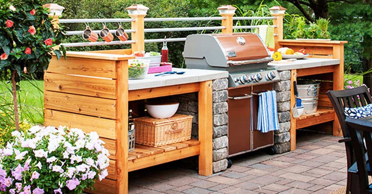 Lowes-buitenkeuken.jpg (1200×628) | Outdoor kitchen | Pinterest