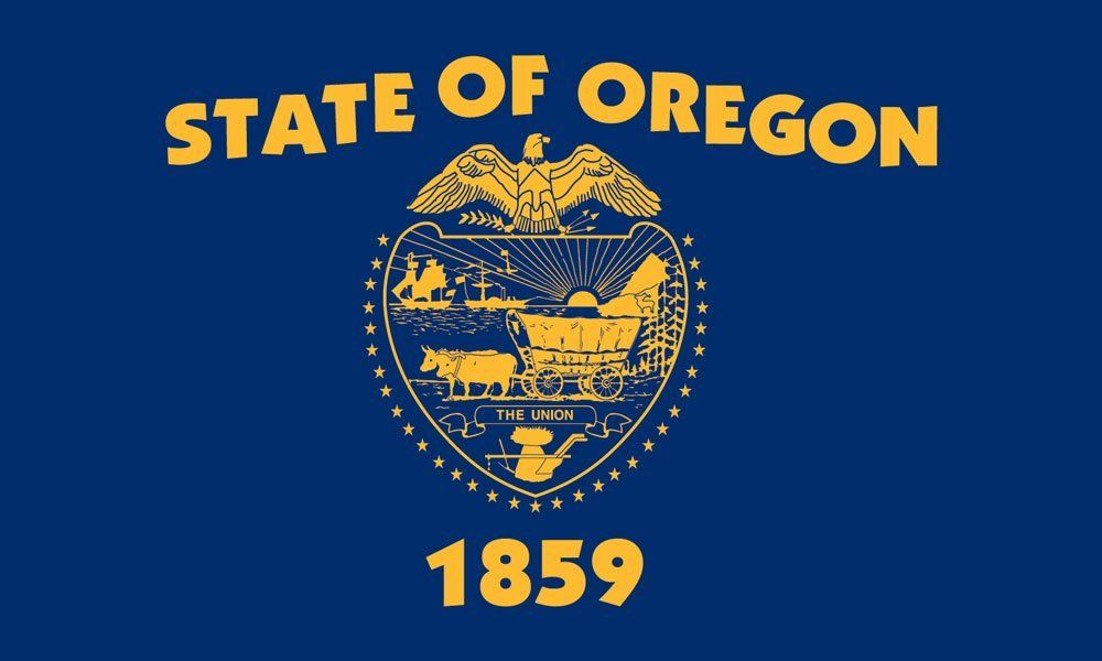Oregon State Flag Oregon State Flag Flag Coloring Pages