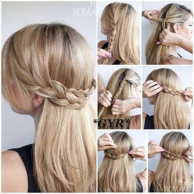 School Hairdo For A Day When You Just Need Your Hair Out Of Your Face But Want To Keep Your H With Images Thick Hair Styles Braided Hairstyles Tutorials Long Straight Hair