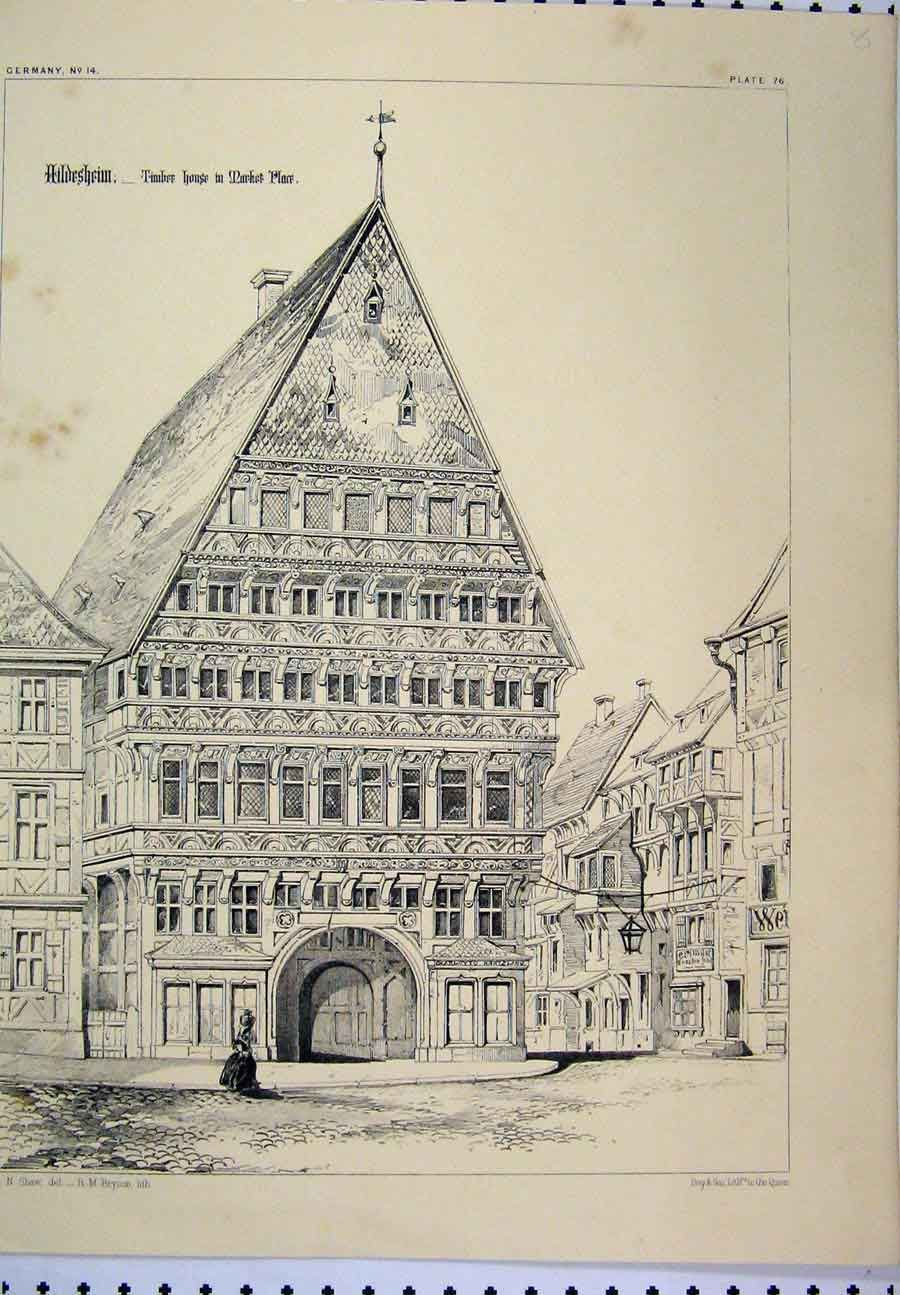 Print Germany Architectural Nave Sebalds Cathedral Arch