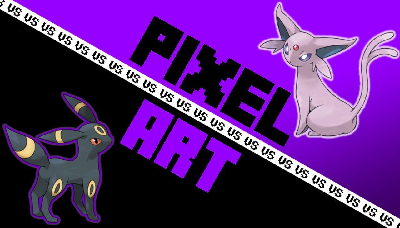 Umbreon VS Espeon - PIXEL ART VS