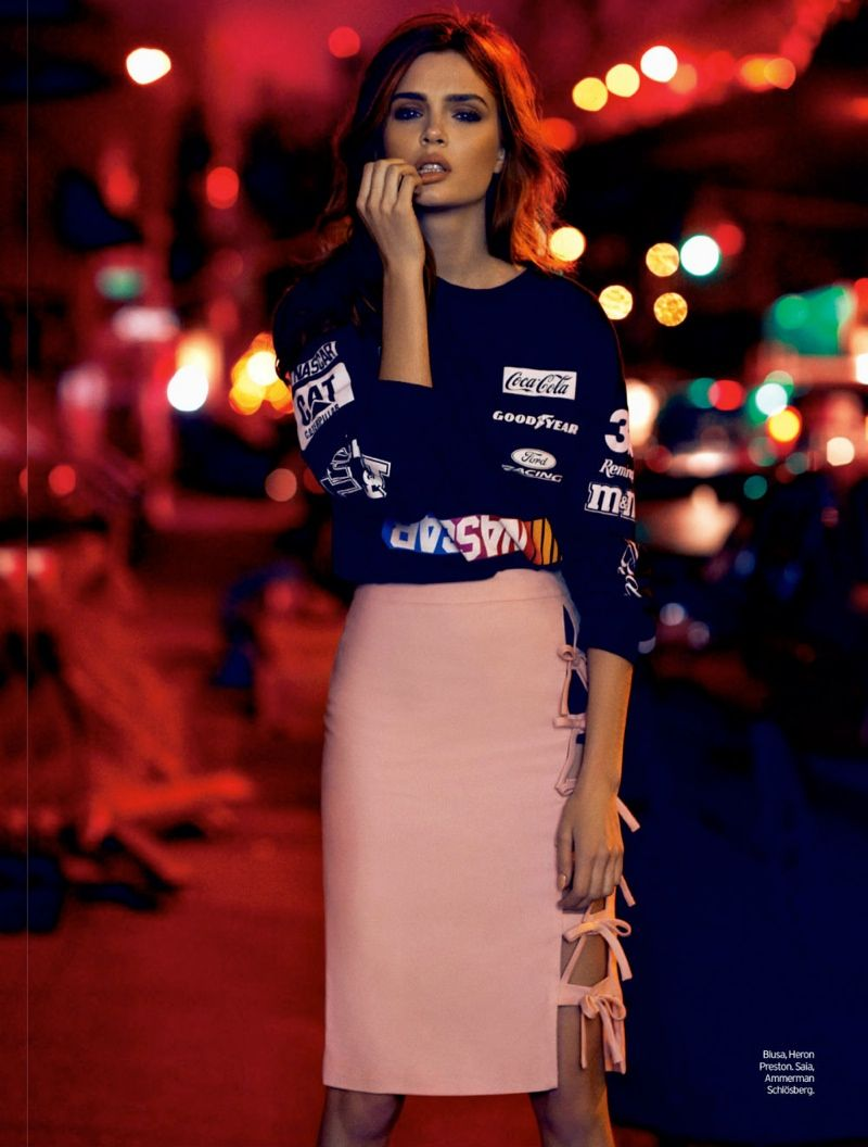 Josephine Skriver Poses in Brooklyn for Elle Brazil Cover Shoot  #street style