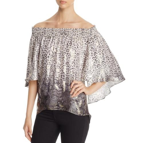 721e17c27cb6 Elie Tahari Womens Calliope Silk Printed Pullover Top, Size: Medium, Black  Multi