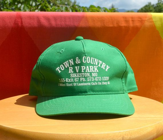936d2ab329a25a 80s vintage trucker mesh hat RV PARK town country by skippyhaha. Find this  Pin and more on Vintage Hats ...