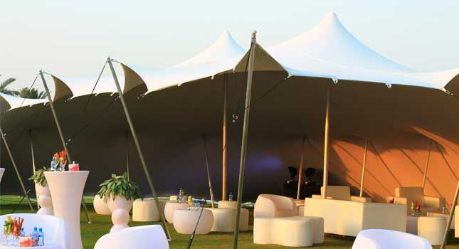 Inspiring Stretch Tent Décor Ideas for Weddings and Parties & Outdoor party tent decor | Event tents | Pinterest
