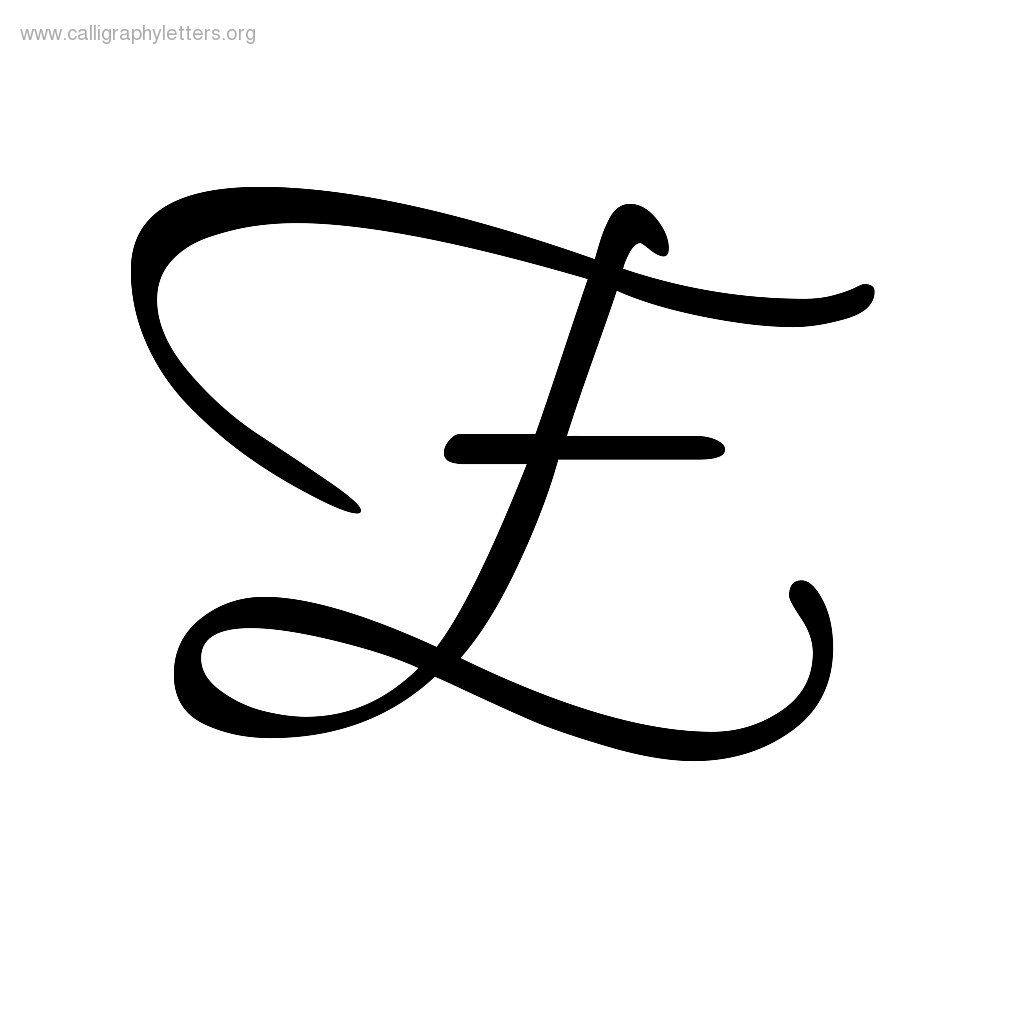 Calligraphy Letter E 1024x1024