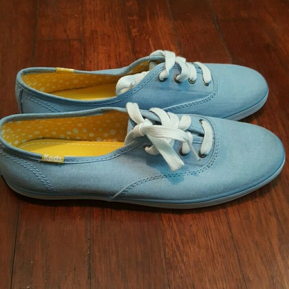 """Size 6 Womens Keds """"Champion Chamb Blue"""" Faded denim colored. These shoes have never been worn however I don't have the original box. keds Shoes Sneakers"""