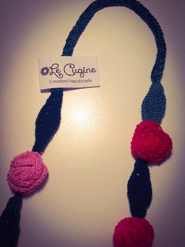 #creazioni #fattoamano #handmade #collane #uncinetto #tricottino #lettere #roselline