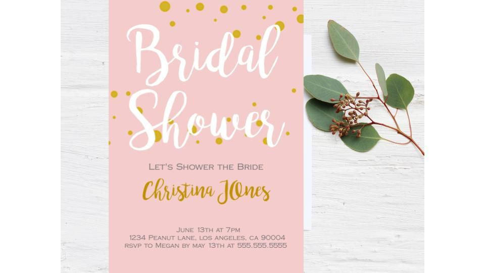 Bridal Party Bridal Shower Invitation Bridal Shower