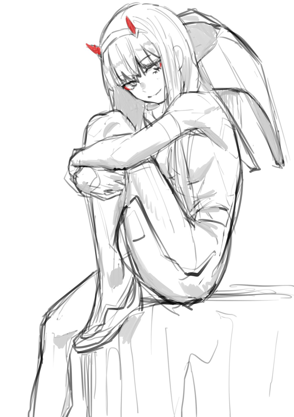 Darling In The Franxx Darlinginthefranxx Franxx Zerotwo Darling In The Franxx Anime Sketches
